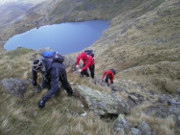Scrambling and walking